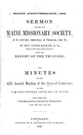 Minutes of the ... Annual Meeting of the General Conference of the Congregational Churches in Maine