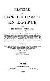 Histoire de l'expédition française en Egypt: aprés les mémoires, materiaux, documens inédits fournis par MM. le Comte Belliard ... [et al.], Volume1