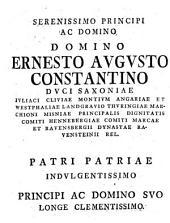 Dissertatio inauguralis De imperatorum ante Constantinum M. erga christianos favore, quam... praeside Jo. Georgio Walchio,... d. 27 januar. 1758, publice defendet Joan. Frider. Hirt,...