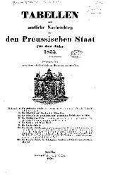 Tabellen und amtliche nachrichten über den Preussischen staat für das jahr 1855