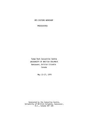 Proceedings   MTS Systems Workshop PDF