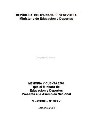 Memoria Y Cuenta 2004