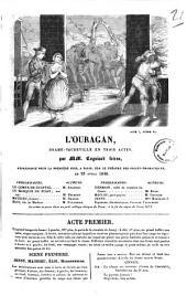 L'ouragan drame-vaudeville en trois actes par MM. Cogniard freres