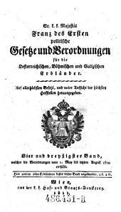 Welcher die Verordnungen vom 1. May bis letzten August 1810 enthält: Volume 34