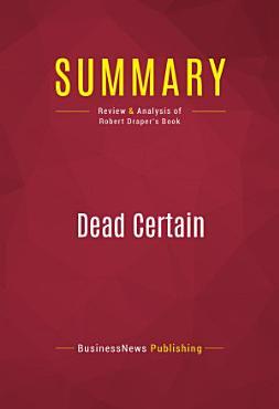 Summary  Dead Certain PDF