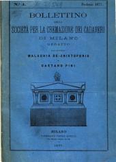Bollettino della Società per la cremazione dei cadaveri di Milano