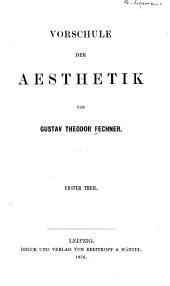Vorschule der aesthetik: Band 1