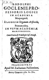 Isagoge in Organum Aristotelis