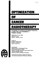 Optimization of Cancer Radiotherapy PDF