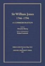 Sir William Jones, 1746-94: A Commemoration