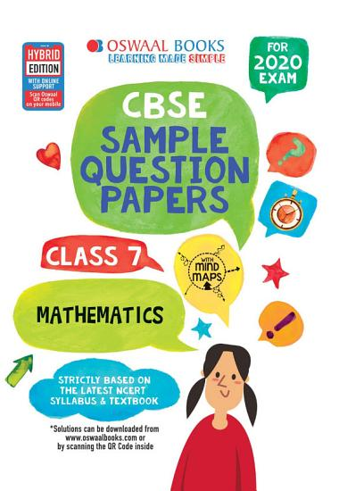 Oswaal CBSE Sample Question Papers Class 7 Maths  For March 2020 Exam  PDF
