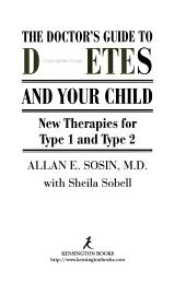 The Doctor s Guide to Diabetes and Your Child PDF