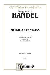 28 Italian Cantatas with Instruments, Volume III, Nos. 16-23 (Various Voices): Vocal Collection (Miniature Score)
