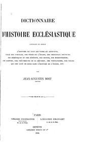 Dictionnaire d'histoire ecclésiastique