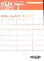 Selling by Mail Order PDF