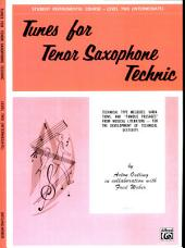 Student Instrumental Course: Tunes for Tenor Saxophone Technic, Level II
