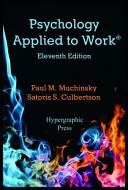 Psychology Applied to Work PDF