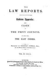 Indian Appeals (Gt. Brit.): Volume 2