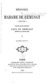 Mémoires de Madame de Rémusat 1802-1808: Volume1