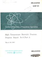 High Temperature Materials Program