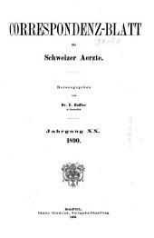 Jahrgang des Correspondenz-blattes für Schweizer Aerzte: Volume20