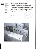 Acoustic Emission and Acousto ultrasonic Techniques for Wood and Wood based Composites PDF