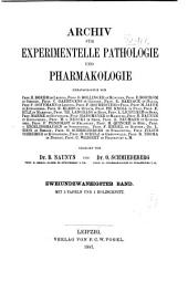 Naunyn-Schmiedeberg's Archives of Pharmacology: Volume 22