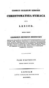 Chrestomathiae syriacae cum lexico: Lexicon syriacum