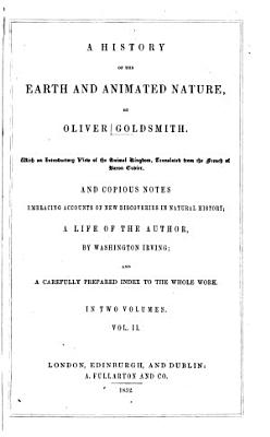 A History of the earth and animated nature v 1 PDF