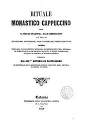 Rituale monastico cappuccino