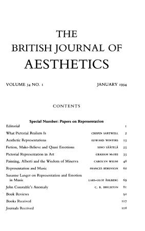 The British journal of aesthetics PDF
