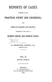 Ontario Practice Reports ...: Volume 2