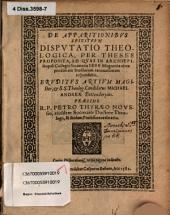 De Apparitionibus Spirituum Disputatio Theologica
