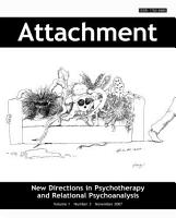 Attachment  New Directions in Psychotherapy and Relational Psychoanalysis Journal   Vol 1 No 3 PDF