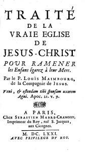 Traité de la vraie Eglise de Jesu Christ