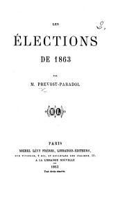 Les Élections de 1863