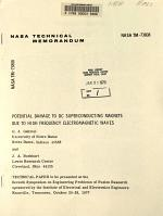 Potential Damage to DC Superconducting Magnets Due to the High Frequency Electromagnetic Waves