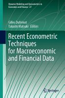 Recent Econometric Techniques for Macroeconomic and Financial Data PDF