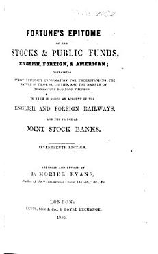 An epitome of the stocks and publick funds     Second edition  with additions PDF