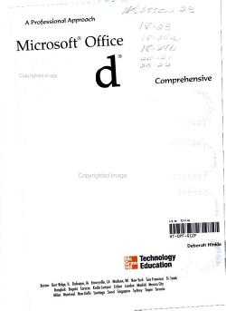 Microsoft Office Word 2003  A Professional Approach  Comprehensive Student Edition w  CD ROM PDF