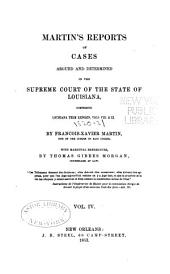 Reports of Cases Argued and Determined in the Supreme Court of Louisiana: Volume 4, Issues 8-9