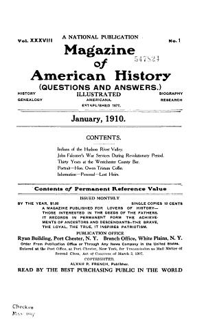 Magazine of American History