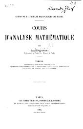 Cours d'analyse mathématique: Théorie des foncions analytiques. Équations différentielles. Équations aux dérivées partielles. Elements du calcul des vaiations