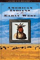 American Indians in the Early West PDF