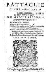 Battaglie de Hieronimo Mutio,... per diffesa dell' italica lingua ...