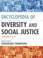 Encyclopedia of Diversity and Social Justice PDF