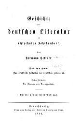 Literaturgeschichte des achtzehnten Jahrhunderts: Teil 3,Bände 3-4