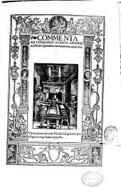 Commentarii familiares Io. Badii Ascensii in M. Fabii Quintiliani declamationes, nuper editi