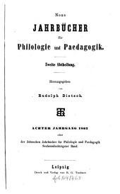 Neue Jahrbücher für Philologie und Pädagogik: Band 86