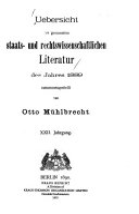 bersicht der gesamten staats  und rechtswissenschaftlichen Literatur PDF